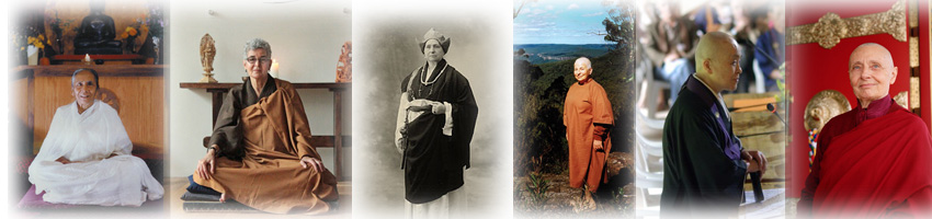 Trois laïques, trois monastiques, trois traditions