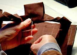 rakusu_sewing_brown