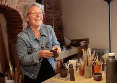 P.Rovere dans son atelier (crédit photo Cynthia Jacquelet)
